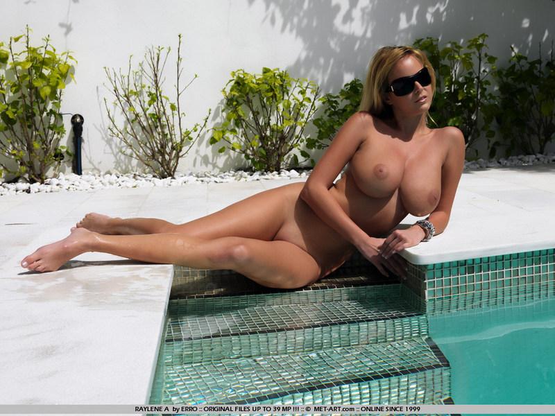 Naked babe RAYLENE has big breasts-13