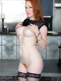 Busty redhead slut
