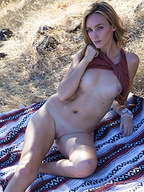 Sarah Strips Outdoors