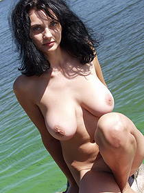 Busty Teen Is Naked By The Lake