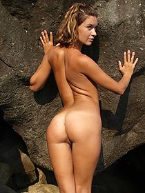 Dasha Having Fun At The Rocks