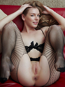Sexy Girl In Fishnet