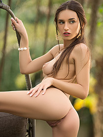 Gloria Sol Posing Outdoor