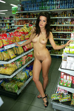 Naked girl presenting her body in public-02