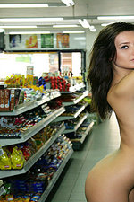 Naked girl presenting her body in public-09