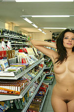 Naked girl presenting her body in public-14