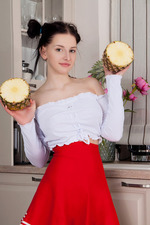 Busty Teen Posing In The Kitchen-01