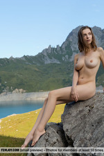 Busty Mariposa Posing In The Mountains-08