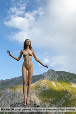 Busty Mariposa Posing In The Mountains-10