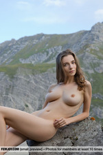 Busty Mariposa Posing In The Mountains-14