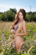 Busty Niemira Gets Nude At The Field-15