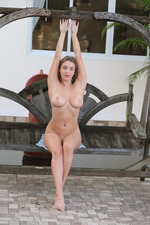 Busty Josephine Is Nude Outdoors-06