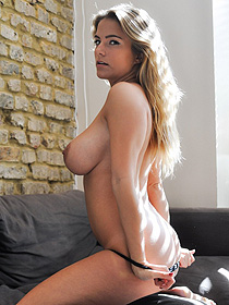 Hot Busty Blonde Jess Kingham Strips