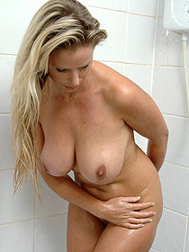 Busty Adele Takes A Hot Shower