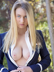 Teenage Blonde With Big Bosoms