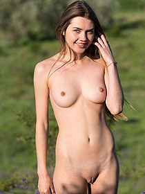 Cute Georgia Is Naked Outdoors